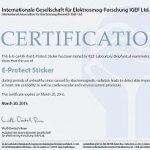E-PROTECT-STICKERcertyfikat