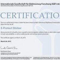 E-PROTECT-STICKER certyfikat